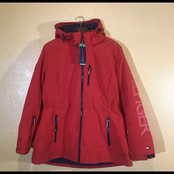 Navy\Fire Tommy Hilfiger Women/'s  3-In-1 Systems Jacket Size L